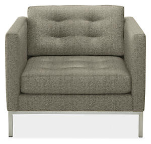 Sabine Chair in Trey Charcoal
