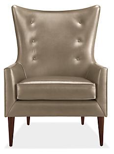Louis Chair in Summit Mushroom Leather