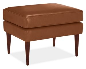 "Louis 25x19"" Ottoman in Summit Cognac"