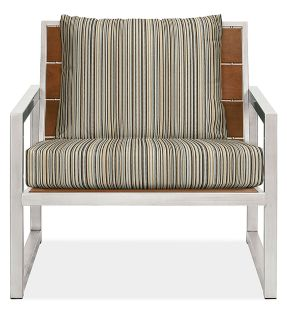 "Montego 32"" Lounge Chair Cushions in Outdura Sunset Sky"