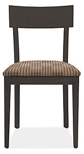 Doyle Side Chair in Ebony with Moore Spice Seat