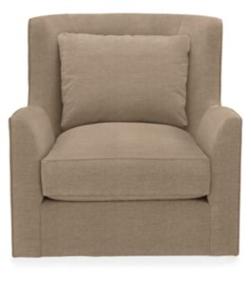 Maxfield Swivel Chair in Taps Pumice