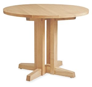 Turner 36r 29h Dining Table in White Oak
