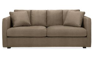 "Clive 80"" Two-Cushion Sofa in Trip Mink"