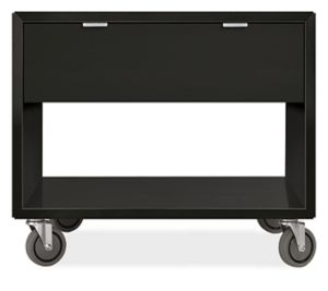 Copenhagen 29w 30h Nightstand in Ebony with Casters