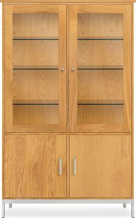 Linear Custom 20SQ Modular 65h 40x20 Cabinet in White Oak and Stainless Steel