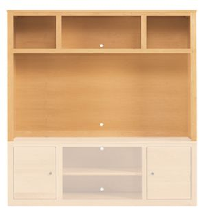Woodwind 70w 48h Media Hutch in Maple