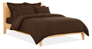 Sateen Jacquard King Duvet Cover in Espresso