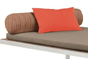 Montego Sun Bed Round Bolster in Outdura Sunset Spice