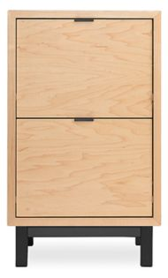 Copenhagen 32h 19w Two-Drawer File Cabinet in Maple with Natural Steel