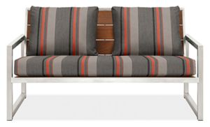 "Montego 57"" Sofa Cushions in Sunbrella Sol Orange"