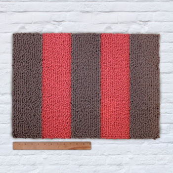 Waypoint Wool Rug - Duo Stripe Bark / Zinnia