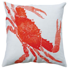 Crab Pillow - Rhubarb