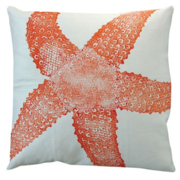 Starfish Pillow - Rhubarb