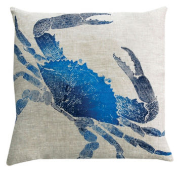 Crab Pillow - Marine