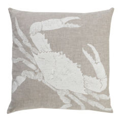 Crab Pillow - White