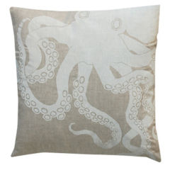 Octopus Pillow - White