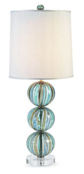 Striped Bocce Table Lamp