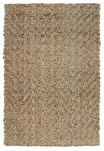 Chevron Jute Rug: Natural Gray