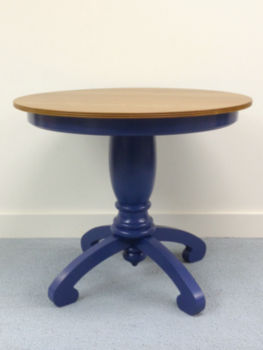 IN-STOCK - Della Pedestal Dining Table / Marine