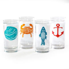Nautical Drinking Glasses (set of 4)