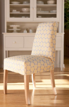 IN-STOCK: Jack Dining Chair - Slipcovered - Shell Game / Oyster