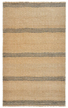 Rugged Stripe Rug - Gray/Natural