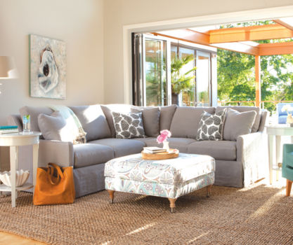 IN-STOCK: Vera Sectional - Relaxed Linen / Slate Gray