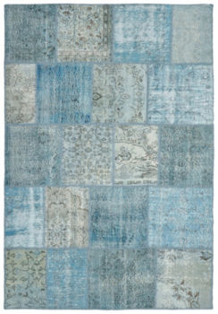 Vintage Patchwork Wool Rug - Wave