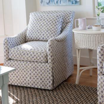 IN-STOCK: Winnie Swivel Chair - Lucky Leaf / Dusk