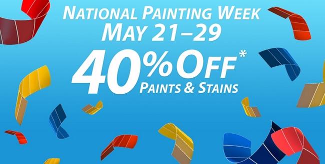 National Painting Week: May 21 - 29