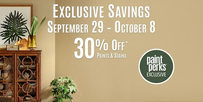Exclusive Savings: September 29 - October 8