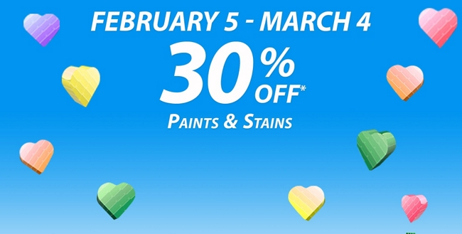 February National Coupon Event: February 5 - March 4