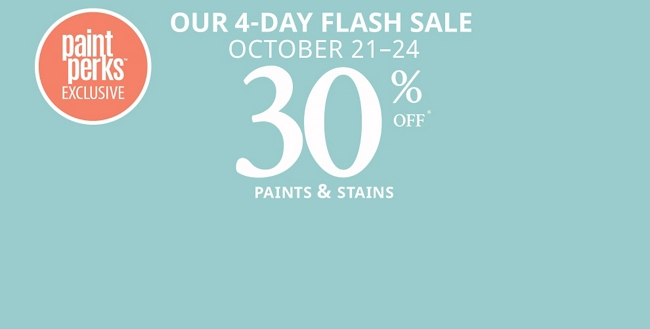 Our 4-Day Flash Sale: October 21 - 24