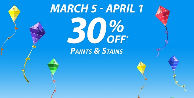 National Coupon Event: March 5 - April 1