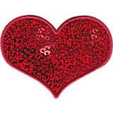 Red Sequin Heart