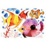 Underwater Orange Tropical Watercolor