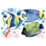 Underwater Blue Tropical Watercolor