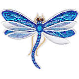 Shimmer Layered Blue Dragonfly