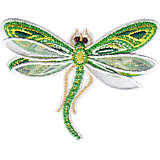 Shimmer Layered Green Dragonfly
