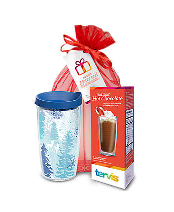 Holiday Hot Chocolate Gift Set - Blue Christmas