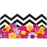 Black and White Chevron Floral