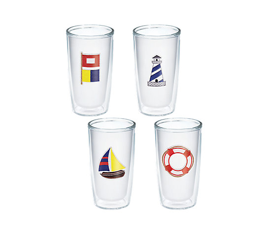 Tervis 70th Celebration Nautical 4-Pack Gift Set