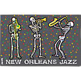 New Orleans Jazzy Skeletons