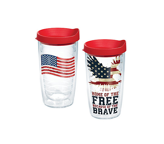 Sequin Flag & Home of the Free Because of the Brave 2-Pack Gift Set