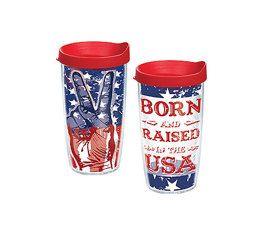 Peace Flag & Born and Raised in the USA 2-Pack Gift Set