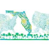 Florida Typography Map