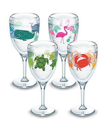 Flamingo, Whale, Turtle, Crab Pattern