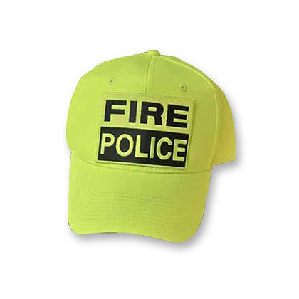 TheFireStore Fire-Police Hat, Hi-Vis Neon Yellow