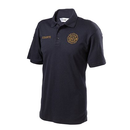 LION StationWear: Short Sleeve Polo Shirt with Pocket, 100% Cotton, Navy